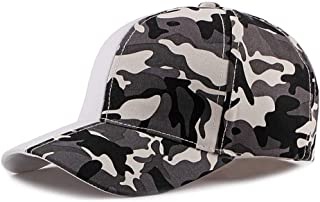 2019 Women Cotton Military Army Camouflage Print Cap for Unisex Camo Baseball Cap Adjustable Peaked Cap 6 Panel Sun Hat (Color : 3, Size : Free Size)