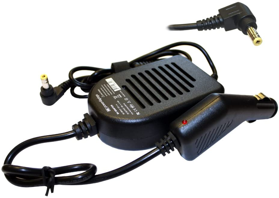 Power4Laptops Adaptador CC Cargador de Coche portátil Compatible con MSI Gaming GX700 MS-1719