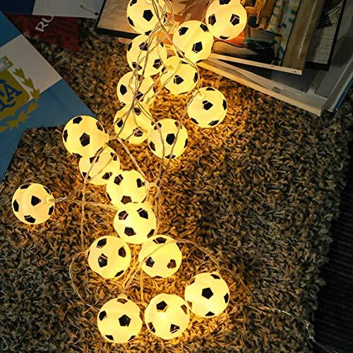 ZHQIC Fútbol Luces de Hadas Blancas cálidas10 LED Fútbol 1,5 M Cadena de Luces de plástico para el hogar Decoración de Fiesta para niños Guirnaldas Deco