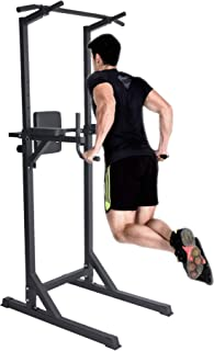 Livebest Power Tower Heavy Duty Adjustable Pull Up Bar Tower Multi-Function Strength Training Dip Stand Workout Station Fitness Equipment for Home Gym