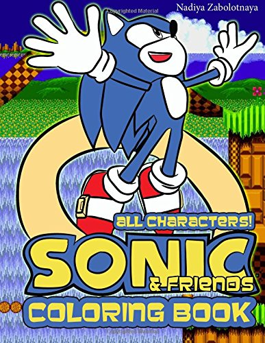 Sonic & Friends Coloring Book: All Classic Sonic Characters!: Volume 1