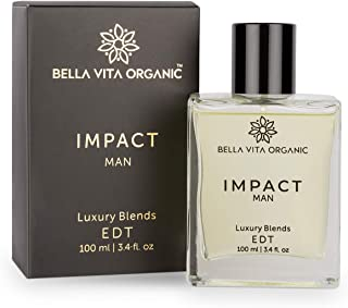 Bella Vita Organic Impact Perfume For Men Scent Long Lasting Fragrance Blended with Fresh, Woody, Citrus & Leathery Aroma,...