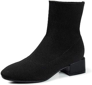 [HR株式会社] レディース ショートブーツ 裏ボア 太めヒール 歩きやすい 秋冬 サイズ22.0cm-25.0cm