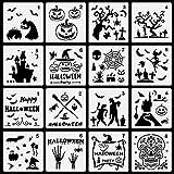 AUXSOUL 16 Piezas de Plantillas de Pintura Plantillas Decorativas de Bricolaje Plantillas de Dibujo...