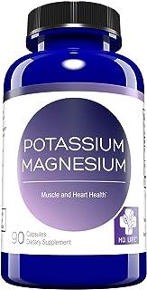 MD. Life Magnesium Potassium Supplement – 90 Capsules - High Absorption Magnesium Complex – Magnesium and Potassium for Va...