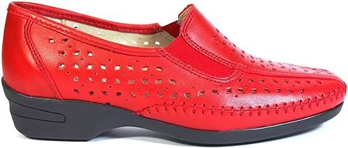 zapatos LA Valenciana 036 rojo