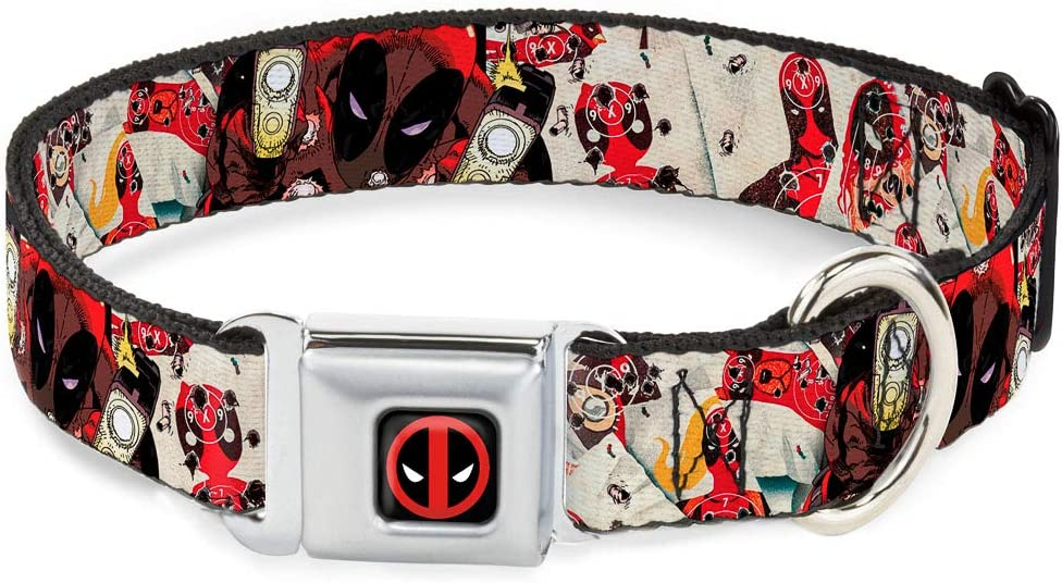 Buckle-Down Seatbelt Buckle Dog Collar Max 52% OFF low-pricing Deadpool Shooting Targe -