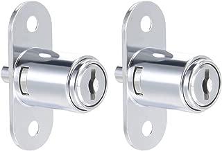 uxcell Push Plunger Lock, 3/4-inch 19mm Cylinder Diameter, Zinc Alloy Chrome Finish, Keyed Alike