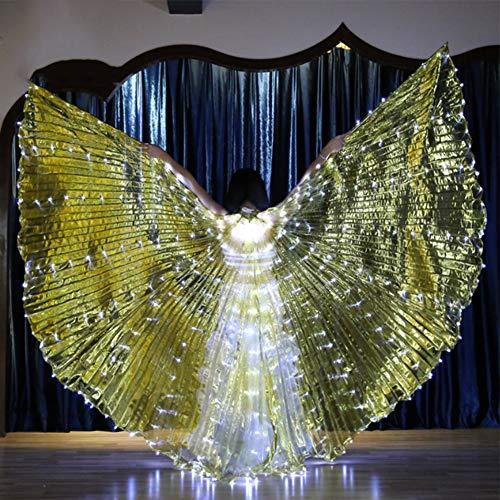 KRILY LED openingsbuikdansvleugels carnavalskostuums vrouwen engel degrees vleugels dansen gloeiende props