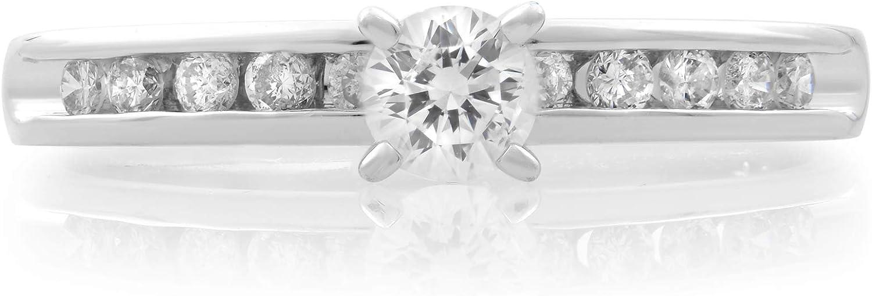 Rachel Koen Platinum Diamond 0.35cttw 3.9g Under blast sales Ring VS2 G A surprise price is realized Engagement