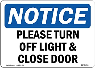 free please turn off lights sign