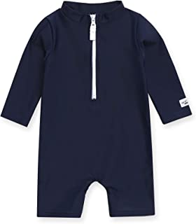 Vaenait baby 0-2T Infant Girls & Boys UPF 50+ Protection Swimsuit Onepiece Rashguard Sunsuit with Quick Change Snaps