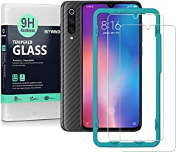 Ibywind Screen Protector for Xiaomi Mi 9 / Mi 9 Pro 5G [Pack of 2] 9H Tempered Glass Screen Protector with Back Carbon Fiber Skin Protector,Including Easy Install Kit