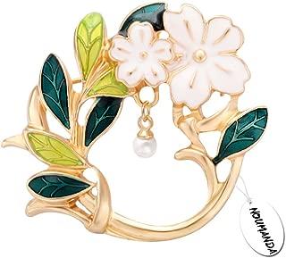 Dual Purpose Dainty Floral Leaf Brooch,Eyeglass Holder Pin