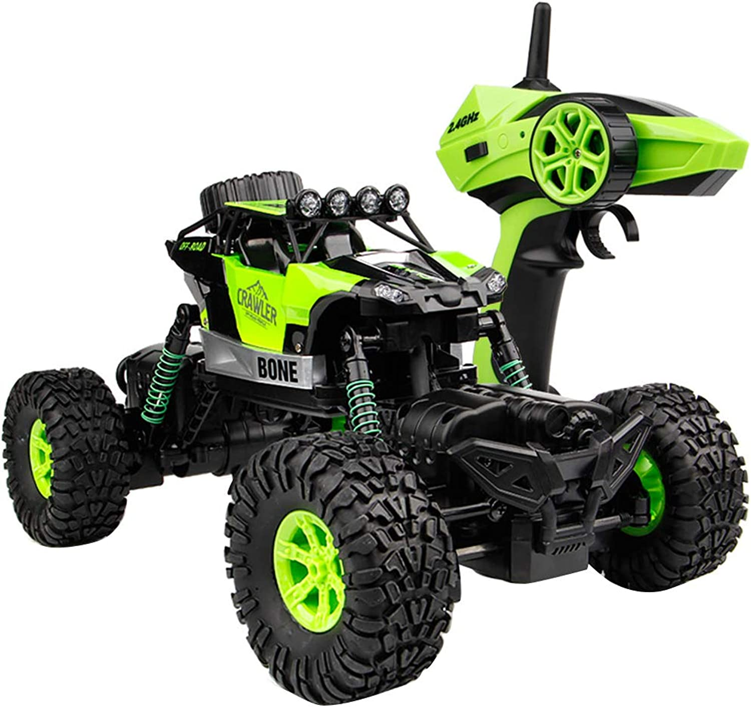 Honey MoMoRC Car Toy,2.4GHz 4WD RC Car Rock Crawler Waterproof Climber Off Road Vehicle Light Toy  Green