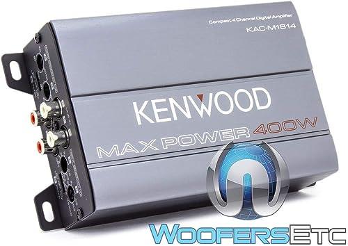 1200W Max High-Res Amplificador 4 canales 4x 100W Auto-On 2x 300W 4 Ohmio