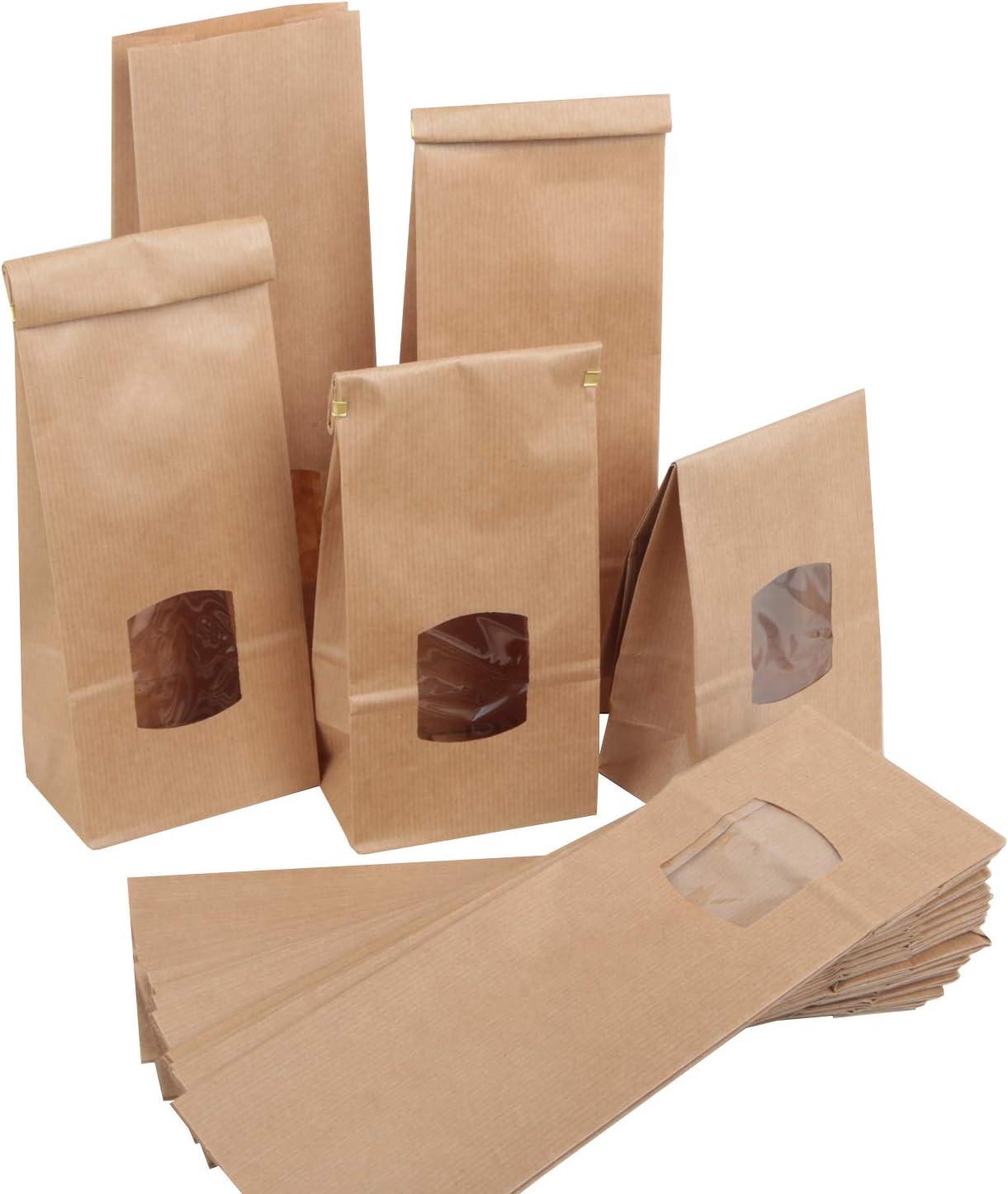 per bottiglie di vino robusti vendita al dettaglio marrone per Natale con maniglie 12 pezzi Sacchetti regalo in carta kraft shopping feste