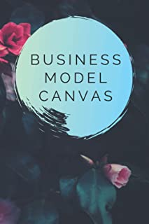 Business Model Canvas: Large & Blank Business Model Canvas Templates with Beautiful Floral Design