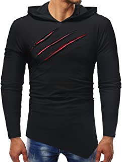 Simayixx Sweatshirts for Men Hoodie, Men's Fitness Gym Muscle Cut Stringer Bodybuilding Workout Long Sleeve Tops Shirts