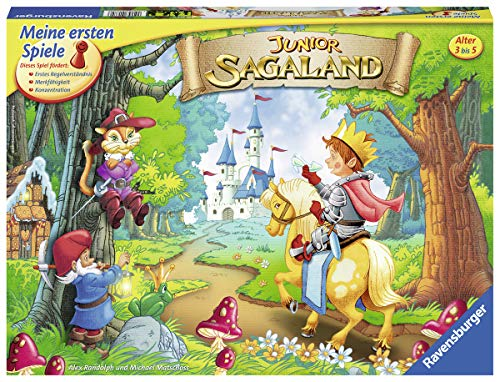 Ravensburger 21372 - Junior Sagaland - Kinderspiel, Junior Edition des Spieleklassikers für 2-4 Spieler ab 3 Jahren