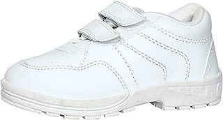 Pollo Boys Vellcro White School Shoe