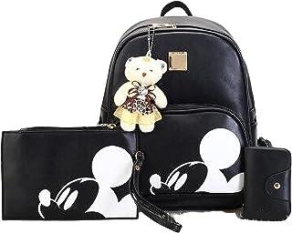 Mickey Mouse Rucksack Disney Rucksack Große Kapazität Mickey Maus Handtasche Zipper Cartoon Tasche Schultertasche Casual D...