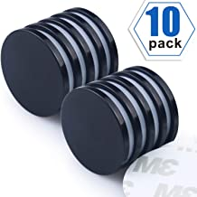 "Super Strong Neodymium Disc Magnets with Epoxy Coating, Powerful Permanent Rare Earth Magnets - Bonus: Double-Sided Adhesive, 1.26""D x 1/8""H, Pack of 6"