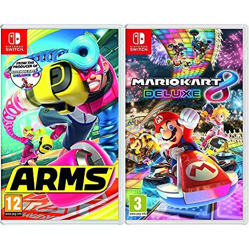 Nintendo Videogioco Arms per Switch [Edizione: Regno Unito] & Videogioco Mario Kart 8 Deluxe per Switch