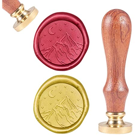 Mountain and stream Wax Seal Stamp personalized Wedding Invitation Wax Stamp stars and moon seals Custom Sealing Wax Stamp