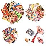 Diealles Shine Lot de 72 Feuilles de Pliage pour Origami, Origami Papier Japonais pour Travaux Manuels la Décoration de Fête de Jouets, Simple-Face, 3 Tailles, Couleur Aléatoi
