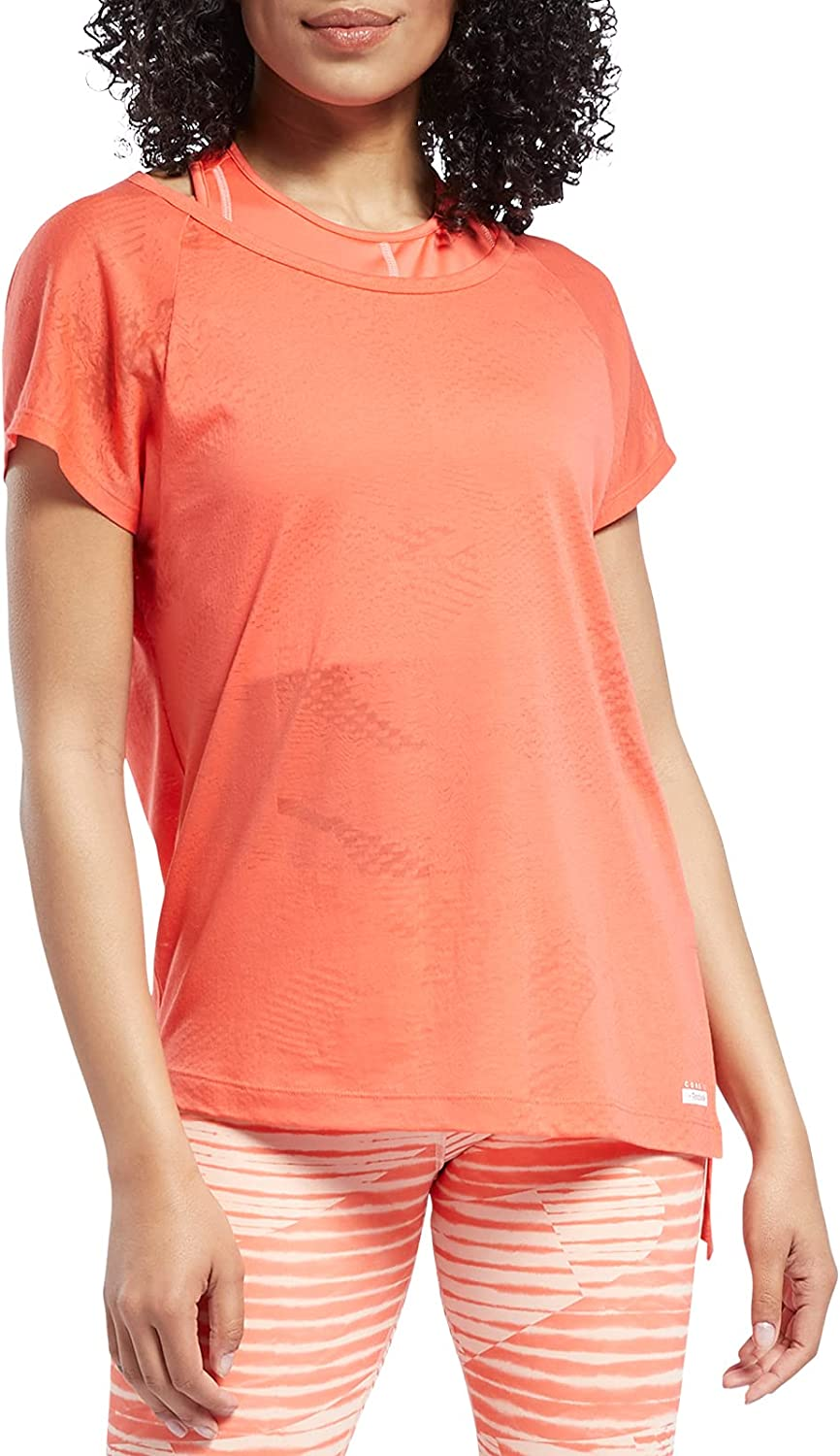 Core 10 Spring new work Sale Special Price one after another by Reebok Tee Women's Burnout Asymmetrical