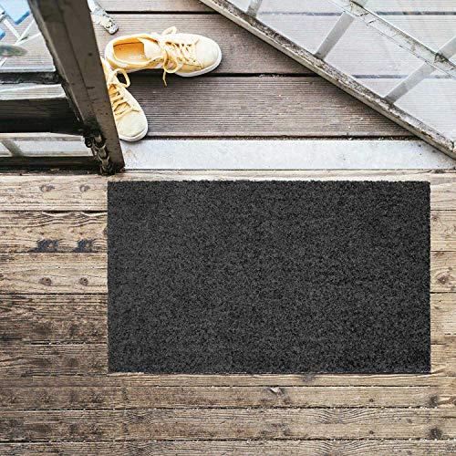 MOCAVI Felpudo lavable sin bordes, 50 x 70 cm, color gris antracita (RAL 7016)
