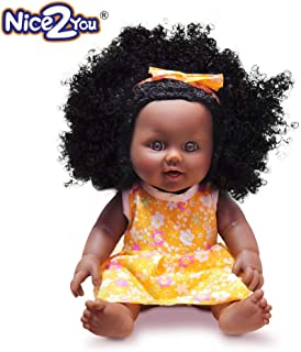 Nice2you Black Dolls Fashion Aferican American Play Dolls for Girls Kids Ideal for Gift