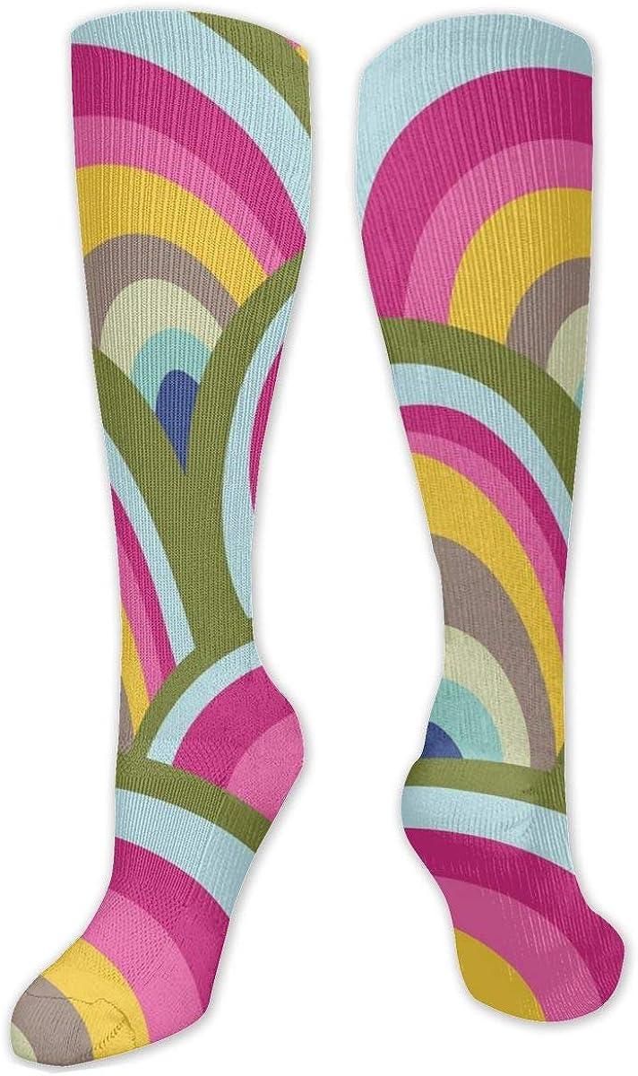 Swirl Pattern Knee High Socks Leg Warmer Dresses Long Boot Stockings For Womens Cosplay Daily Wear