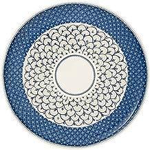 Villeroy & Boch Casale - Plato para pizza, 32 cm, porcelana premium, color blanco/azul