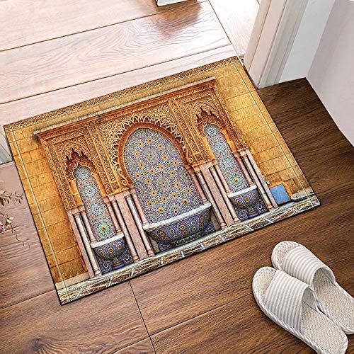 123456789 Design Mosaics Moroccan Oil Tap Interior Art Cortina de Ducha y Alfombra de baño 71 * 71in