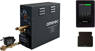 Amerec AX 14 KW Steam Bath Generator with Elite Touch Screen Control - Steam Head and Automatic Drain Kit (Oil Rubbed Bronze Trim)