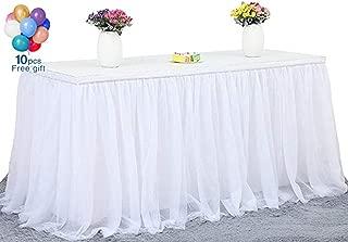 Fanqisi Round or Rectangular Table Tutu Skirt White 270cm Ruffle Table Skirt Custom Wonderland Theme Party Table Tulle Table Skirting