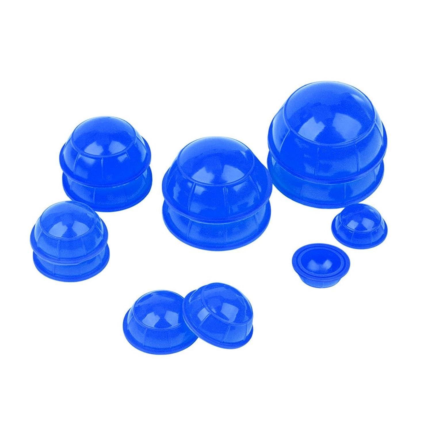 航空機閉じ込める意志(inkint)マッサージ吸い玉 カッピングカップ 12個セット ネック 顔全身マッサージ (ブルー)