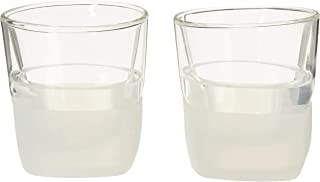 HOST 1744 Freeze Old Fashioned Bourbon Insulated Scotch Cocktail Tumbler, Set of 2, Whiskey Glass