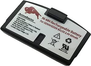 AvimaBasics Premium Rechargeable Batter Compatible with Sennheiser Headsets BA151, BA150, BA152, RS-45, is 150, Fast Charging, Compact Design, Long Lasting Life (60mAh, 2.4V, NI-MH)