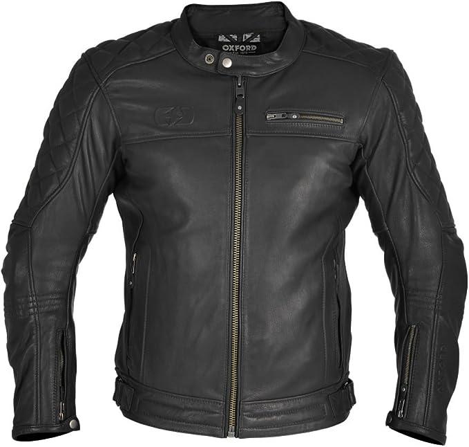 Black//White, Medium Oxford Mens Riding Jacket