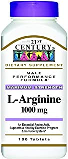 21st Century L-Arginine 1000mg, Maximum Strength 100 ea (Pack of 12)