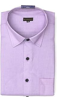 BLUEPOCKET Formal Shirt for Men. Cotton, Regular Fit, Rounded Hemlines