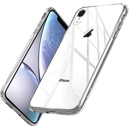 【Spigen】 ガラスケース iPhone XR ケース 6.1インチ 対応 全面 クリア 9H 背面強化ガラス 三層構造 米軍MIL規格 耐衝撃 透明カバー 衝撃吸収 四隅滑り止め カメラ保護 Qi充電 ワイヤレス充電 クォーツ・ハイブリッド 064CS25717 (クリスタル・クリア)