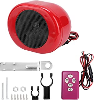 Audio Speaker,Motorcycle Alarm Sound System Waterproof Bluetooth MP3 Music Audio Player 24-86V