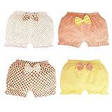 JIEYA - Pack de 4 bragas para bebés y niñas, color surtidos