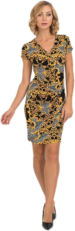 Joseph Ribkoff Black & gold Dress Style  193590 Fall 2019 Collection