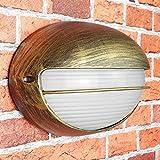 Lámpara de pared nostálgica 'Amsterdam' para exteriores / IP44 E27 hasta 60 W / lámpara de pared para patio y jardín