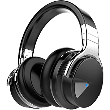 Amazon Com Cowin E7 Active Noise Cancelling Headphones Bluetooth Headphones With Microphone Deep Bass Wireless Headphones Over Ear Comfortable Protein Earpads 30 Hours Playtime For Travel Work Black Electronics